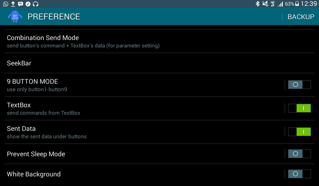 Bluetooth Serial mobile app