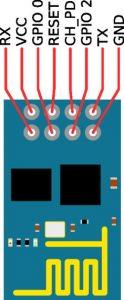 ESP8266 WiFimodule pinout