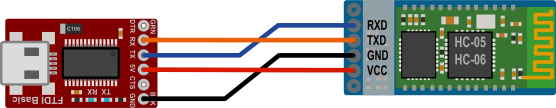 FTDI to HC-06 circuit